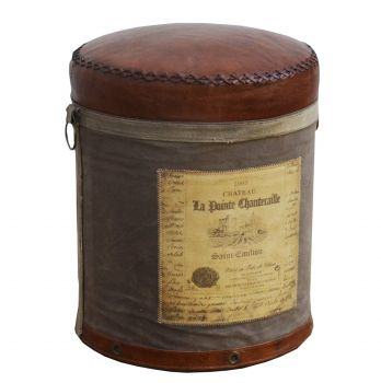 Cylindrical Chateau Ottoman
