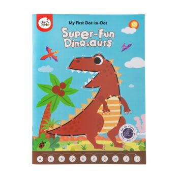 MY FIRST DOT-TO-DOT DRAWING BOOK-SUPER FUN DINOSAURS