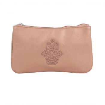 Rose Gold Leather Purse Hamsa Design