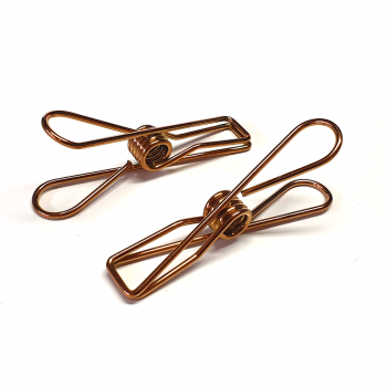 Rose Gold Stainless Steel Infinity Clothes Pegs Large Size - 60 Pack