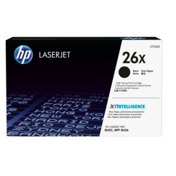 HP No. 26X High Yield Black Toner Cartridge - Estimated Page Yield 9000 pages - CF226X