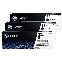 HP No. 83X Black Toner Cartridge Triple Pack - Estimated Page Yield 2200 - CF283X