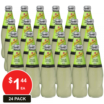 24 Pack, Schweppes 300ml Lemon/lime Bitters