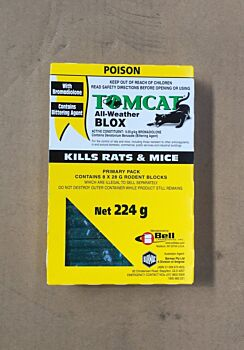 Tomcat Rodenticide All Weather Blox 224