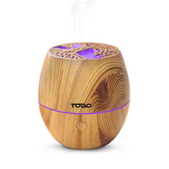 120ml Humidifier Aromatherapy Diffuser 7 Colour Led Ultrasonic Mist - Woodgrain Tree