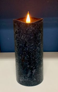 Rustic Black 3D Flickering Flame LED Candle