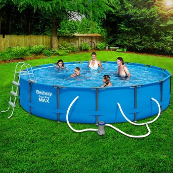 Bestway Above Ground Swimming Pool Steel Pro Frame Filter Pump 15ft