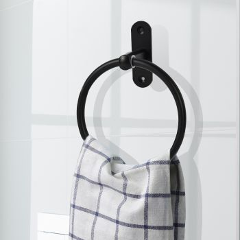 Towel Rack Aluminium Ring Round Rail Wall Mounted Bathroom Accessories