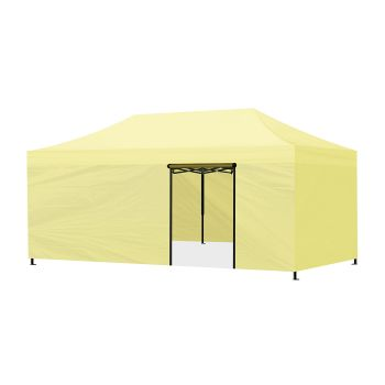 Mountview Foldable Pop Up Gazebo Canopy 3x6M in Beige Colour