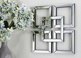 Symmetry Square Mirrored Wall Art