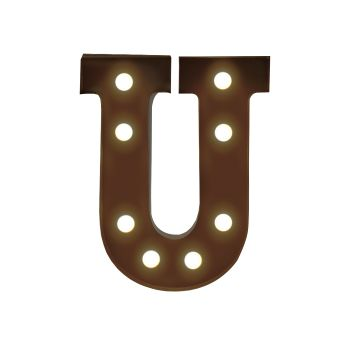 LED Metal Letter Free Standing Hanging Lights Marquee Event Party Decor Letter U