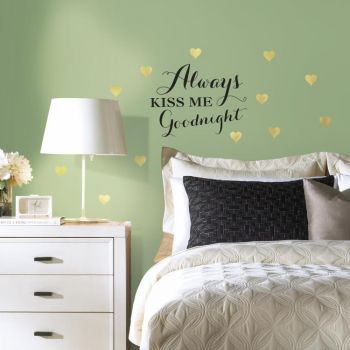 ROOMMATES Always Kiss Me Goodnight Wall Decal