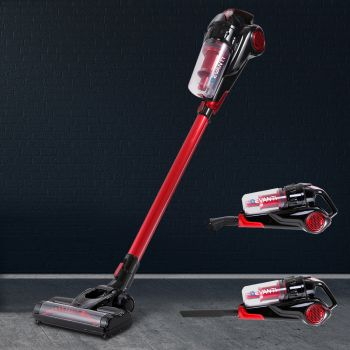 Handheld Vacuum Cleaner Cordless Stick Handstick Car Vacuum Cleaners Bagless Rechargeable 2Speed 120W Red & Black