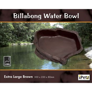 ULTIMATE REPTILE SUPPLIERS BILLABONG WATER BOWL BROWN XLGE