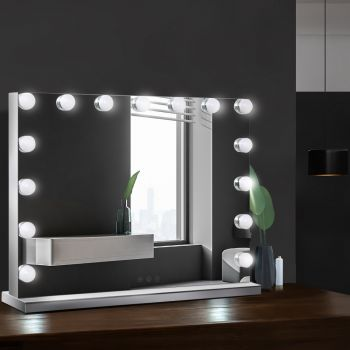 Embellir Hollywood Frameless Makeup Mirror With 15 LED Lighted Vanity Beauty
