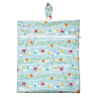 Wet & Dry Bag-Light Aqua Sea Friends