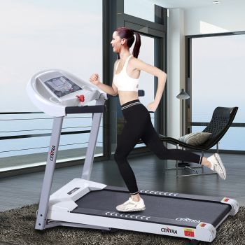 Centra Electric Treadmill Auto Incline Home Gym Exercise Machine Fitness White