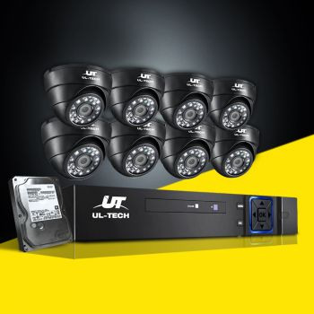 ULtech CCTV Camera Security System 8CH DVR 1080P 1TB Outdoor IP Day night 2MP