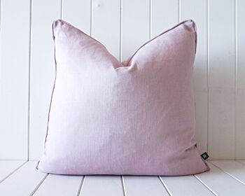 Indoor Cushion - Linen Feather Insert - Dusty Pink - 50x50