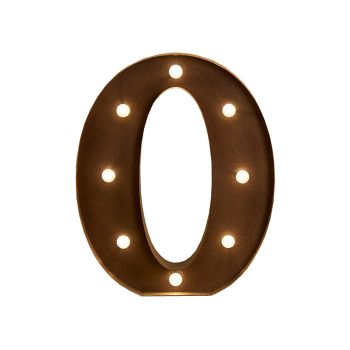 LED Metal Letter Free Standing Hanging Lights Marquee Event Party Decor Letter O