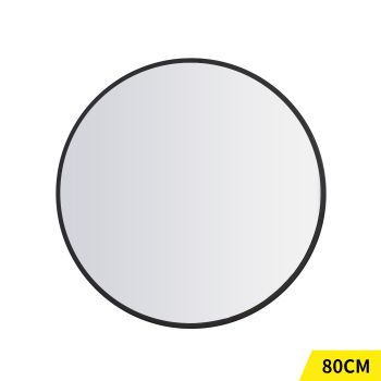 Round Makeup Wall Mounted Mirrors with Smooth Edge 80cm