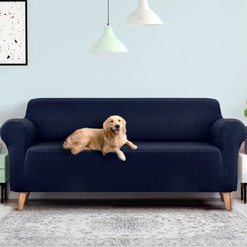 Artiss Sofa Cover Elastic Stretchable Couch Covers Navy 1/2/3/4 Seater