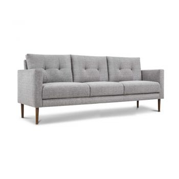 Archie Fabric 3 Seater Sofa - Grey
