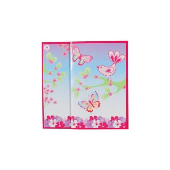 Colourful spring butterfly folded card
