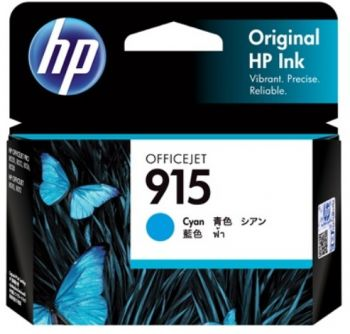 HP No. 915 Cyan Ink - Estimated page yield 315 pages-**TAKING BACKORDERS**