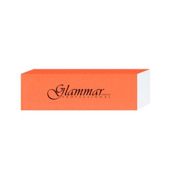 Glammar Nail File Block Orange 5Pk