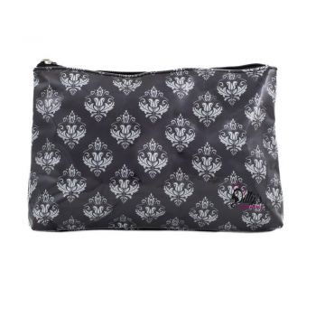 Damask Print Medium Cosmetic Bag