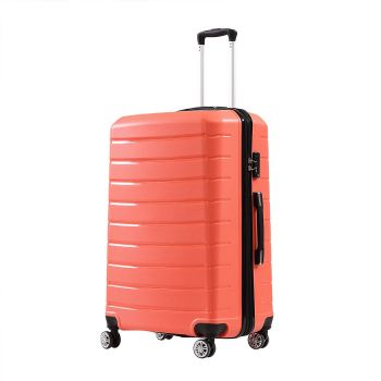 """28"""" Travel Luggage Expandable Suitcase Trolley Lightweight in Copper"""