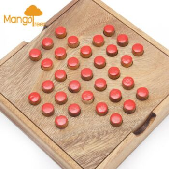 MANGO TREES Solitaire Game with Wooden Pins - Wooden Family Board Games