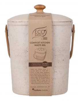 Eco Basics Compost Kitchen Waste Bin - 4L  - Pebble