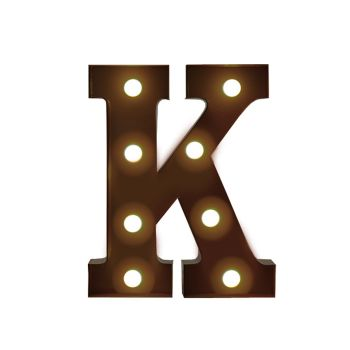 LED Metal Letter Free Standing Hanging Lights Marquee Event Party Decor Letter K