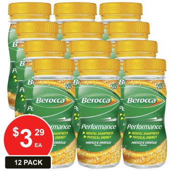12 Pack, Berocca 250ml Twist & Go Mango & Orange
