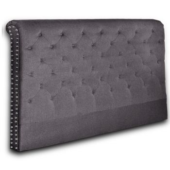 Levede Upholstered Fabric Bed Headboard in King Size in Charcoal Colour