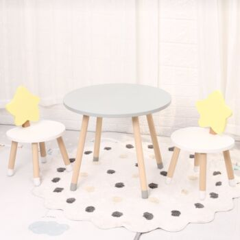 Premium Kids Table and Chair Set - 80cm Table Surface