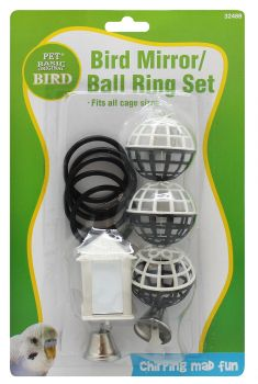 Bird Mirror/Ball Ring Set