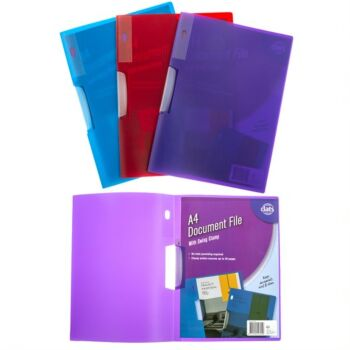 Document File A4 with Swing Clamp Assorted Coloursours