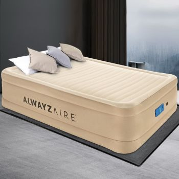 Bestway Air Bed Inflatable Mattress Fortech Built-in AC Pump Home Sleeping