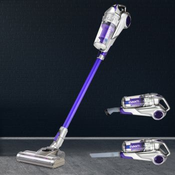 Handheld Vacuum Cleaner Cordless Stick Handstick Bagless Car Vac Rechargeable 2Speed 120W Purple