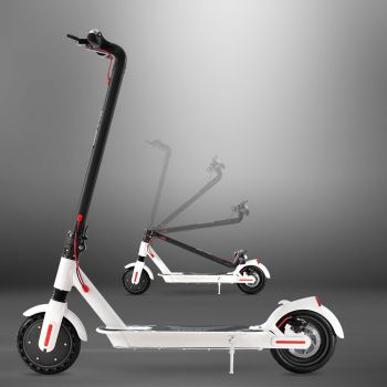 Electric Scooter Compact Portable Foldable Commuter Bike Kids Adult LED Light WH