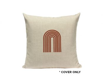 Indoor Cushion COVER - Rust Rainbow - 45x45