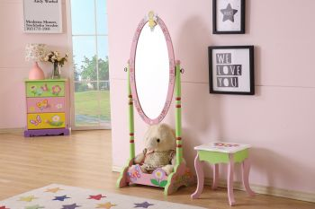 ALL 4 KIDS Olivia the Fairy Girl's Wooden Standing Mirror