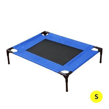PaWz Heavy Duty Pet Bed Trampoline Hammock Mesh Canvas Small Blue