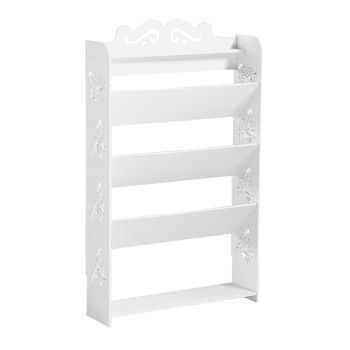 Levede 5 Tiers 63 Width Chic Hollow Storage Shoe Rack Stand Shelf Organiser