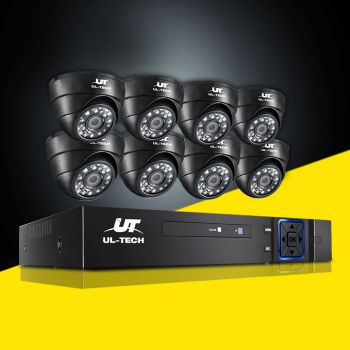 ULtech CCTV Camera Security System 8CH DVR 1080P Outdoor IP Long Range 2MP HD