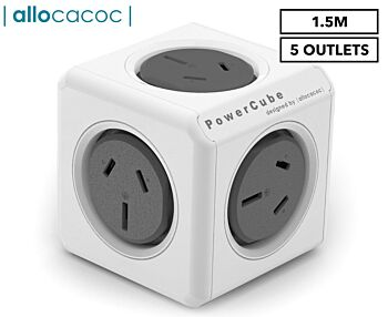 ALLOCACOC ALLOCACOC POWERCUBE Extended 5 Outlets, 1.5M - Grey