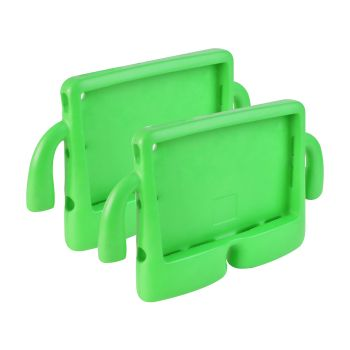 2 x Shockproof Tough Rubber Safe Tablet Case in Green Colour